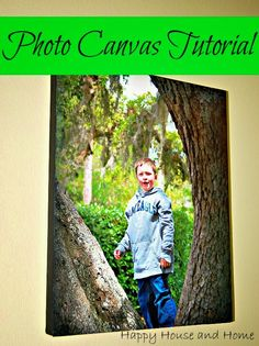 Photo Canvas Tutorial ~ so easy you'll want to put all of your photos on canvas. #PhotoCanvas #DIYart