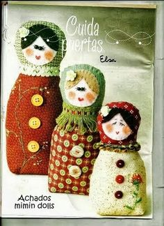 Mimin Dolls: peso de porta Matrioskas