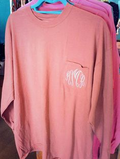 Monogrammed Comfort Colors Short Sleeve by BrayBoutiqueDesigns,