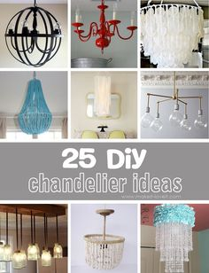 25 DIY Chandelier Ideas | Make It and Love It - http://centophobe.com/25-diy-chandelier-ideas-make-it-and-love-it/ -