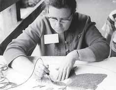Josephine Whitaker | member of Hound Dog Hookers: makers of hand-hooked rugs | Blackey, Kentucky, U.S.A. | c. mid-1960s-'70s | formed as part of President Lyndon Johnson's War on Poverty program
