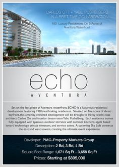 New and Pre-Construction | Echo Waterfront Condos For Sale and Penthouses in Aventura Florida