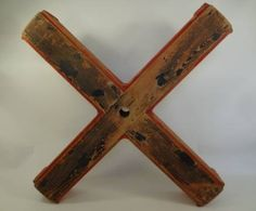 Large #vntage #Belgian block painted #cross or X #sculpture, available at #Southampton #Mecox #interiordesign #mecoxgardens #furniture #shopping #design #decor #home #designidea #room #antiques #garden