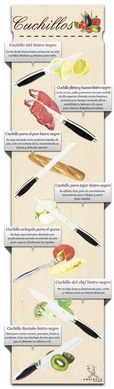 ¡Los cuchillos ideales para tu cocina!