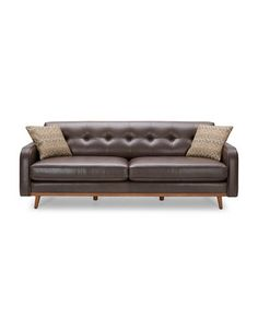 Brands | Sofas | Roma Leather Sofa With Wood Panel On External Arm |  Hudsonu0027s Bay | HOME | Pinterest | Leather Sofas, Woods And Living Rooms