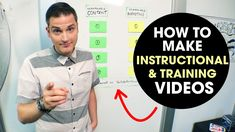 How to Create Training Videos (and Instructional Videos) Campus Connect, Making Youtube Videos, Made Video, Content Marketing, Filmmaking, Training Videos, Teaching, Mens Tops, How To Make