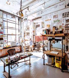 Casey Neistat's handmade new york studio via wired. inspiring studio spaces. / sfgirlbybay