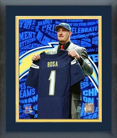 Joey Bosa 2016 NFL Chargers Draft #3 Draft Pick - 11 x 14 Matted/Framed Photo