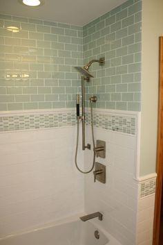 White Tile In Bathroom tile design in master bathroom shower | european tapestry plan