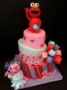 Elmo Birthday Cakethe Figure Of Elmo Is Also Cake  All - Elmo and abby birthday cake