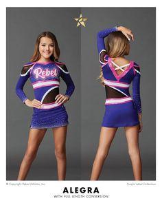 5e3d673f7b3 A-symmetrical allstar cheer uniform with conversion piece. Rebel Athletic  Cheer
