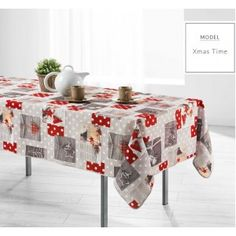 Vánoční ubrus na kuchyňský stúl v šedé barvě Gift Wrapping, Table, Gifts, Furniture, Home Decor, Paper Wrapping, Presents, Room Decor, Wrapping Gifts