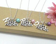 Best Friend Necklace, 2 Best Friends, Set of 2 Best Friend Jewellery, Best Friend Gift, Personalized Best Friend, Initial Best Friend