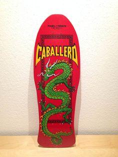 Powell Peralta Caballero Dragon, red dip, green dragon, reissue
