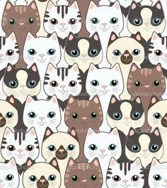"""Képtalálat a következőre: """"cat pattern wallpaper"""""""
