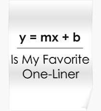 Algebra - Linear Equation - y=mx+b Math Puns, Math Memes, Science Jokes, Funny Math, Physics Jokes, Math 8, Hilarious Jokes, Dad Jokes, Math Quotes