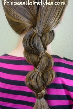 messy bun love the hair! Hairstyles For Girls - Hair Styles - Braiding - Princess Hairstyles Braid Little Girl Hairstyles, Pretty Hairstyles, Braided Hairstyles, Princess Hairstyles, Kid Hairstyles, Style Hairstyle, Perfect Hairstyle, Unique Braids, Fun Braids