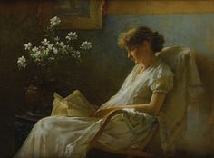 Charles Courtney Curran - Comfortable Corner [1887] | by Gandalf's Gallery