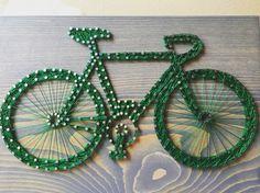 Bicycle/Bike String Art- order from KiwiStrings on Etsy! www.kiwistrings.etsy.com