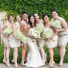 Nude Bridesmaid's Dresses