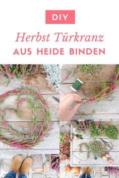 flower garden care Ein Trkranz aus Heide z - Diy Wreath, Door Wreaths, Flowers Background, Decor Crafts, Diy Crafts, Fleurs Diy, Alpine Plants, Garden Types, Diy Décoration