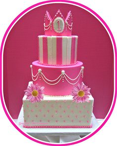 Princess Birthday cake by Graceful Cake Creations, via Flickr