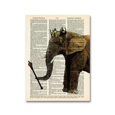 The Elephant King Print, now featured on Fab.
