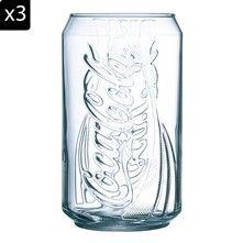Luminarc Coca Cola - Lot de 3 gobelets - transparent