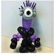 Balloon evil Minion from Despicable Me.  #Balloon sculpture minion #evil #balloon-sculpture-minion