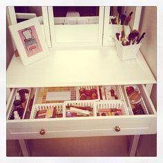 organized vanity space