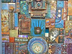 polymer clay collages by Laurie Mika