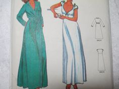 Butterick 6370 John Kloss Vintage Lingerie Nightgown Sleepwear Pajamas Sewing Pattern  Size 10