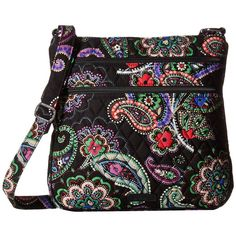 Vera Bradley Keep Charged Triple Zip Hipster (Kiev Paisley) Handbags ($98) ❤ liked on Polyvore featuring bags, handbags, shoulder bags, quilted handbags, hipster purses, quilted hand bags, zip purse and hand bags