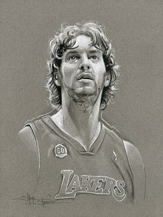 Pau Gasol Los Angeles Lakers by Shane Stover