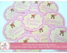 Adesivo p/ Lata Mint 5x5 Ursinha Rosa