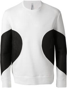 fe4a9d23645 Neil Barrett - Black Contrast Panel Sweatshirt for Men - Lyst