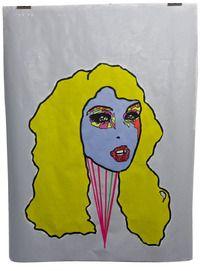 PSYCHONOISEDESIRE -  ADAMEVA  Noise (2012) Acrylfarbe und Tape auf Fotopapier   104 x 137 cm