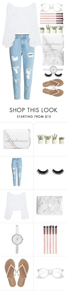"""Elegance spring marble look"" by nelicaaa ❤ liked on Polyvore featuring Tory Burch, Allstate Floral, Petersyn, DKNY, M&Co, Spring, white, Elegance and marble"