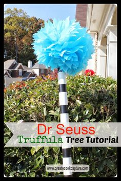 Create ~ Cook ~ Capture: Tutorial: How To Make Dr Seuss Truffula Trees Erstellen Sie ~ Cook ~ Captur Dr Seuss Trees, Lorax Trees, Truffula Trees, Dr. Seuss, Dr Seuss Birthday Party, Birthday Parties, Birthday Week, Twin Birthday, 80th Birthday