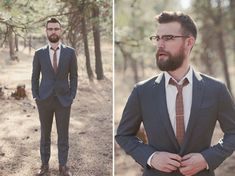 love this guy's look. Washington Ranch Wedding: Kristen + Michael by Ben Blood