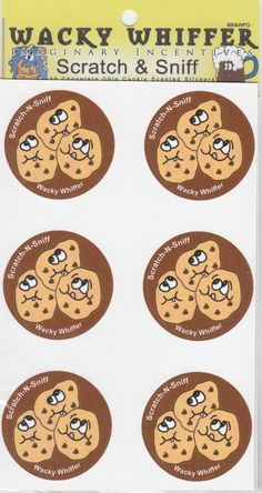 Wacky Whiffer Scratch and Sniff Stickers Chocolate Chip Cookie Scented #SII014E3 #WackyWhiffer #ScratchSniff