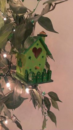 St. Patrick's Day bird house. Painted with acrylic paint.
