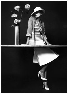 Model Yvonne Goederman By Bruno Benini, 1974