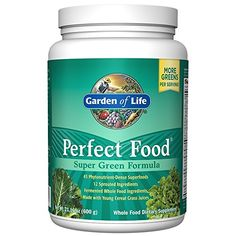 Garden of Life Perfect Food Super Green Formula Powder, Whole Food Vegetable Superfood Plant Based Juiced Greens Supplement Dietary Powder, 60 Servings What Is Spirulina, Super Greens Powder, Best Greens Powder, Garden Of Life Vitamins, Organic Cereal, Best Superfoods, Turkey Burger Recipes, Kitchen Gadgets
