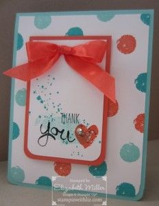 Thank you card from the STampin Up Work of Art stamp set