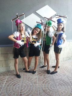 Marionette costume idea for Pinocchio. Costume Halloween, Purim Costumes, Funny Costumes, Costumes For Teens, Carnival Costumes, Baby Costumes, Cool Costumes, Halloween Kids, Dance Costumes