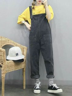 Discover ideas about Indie Outfits « ellee. Grunge Outfits, Mode Outfits, Retro Outfits, Korean Outfits, Trendy Outfits, Vintage Outfits, Fashion 90s, Ulzzang Fashion, Korea Fashion