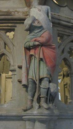 Darstellung des Hirten (lLukas, 2, 10) an der Mauritusrotunde im Konstanzer Münster (datiert auf die mitte des 13. Jhd.)