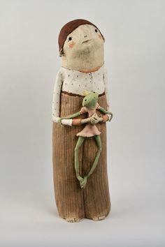 Sculptures Céramiques, Sculpture Art, Ceramic Clay, Ceramic Pottery, Le Totem, Anne Sophie, Art Gallery, Clay Art, Sculpting