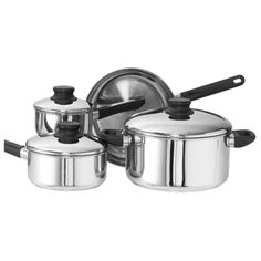 Kinetic Go Green Kitchen Basics Stainless Steel Cookware 7-Piece Set with Lid -- Check out this great image  : Cookware Sets